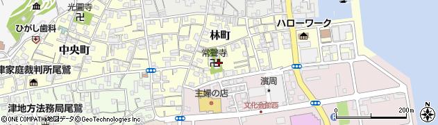 常聲寺周辺の地図