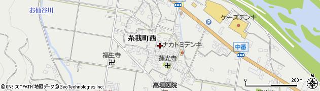 和歌山県有田市糸我町西周辺の地図