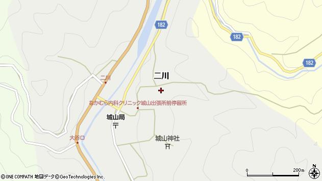 〒643-0542 和歌山県有田郡有田川町二川の地図