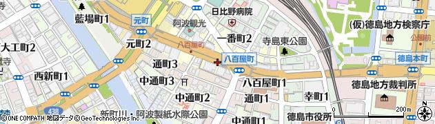 徳島県徳島市八百屋町周辺の地図