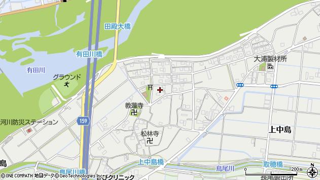 〒643-0855 和歌山県有田郡有田川町上中島の地図