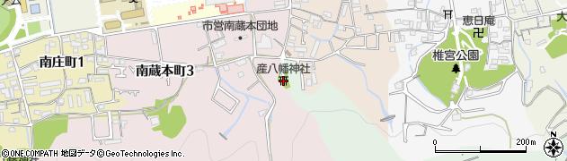 産八幡神社周辺の地図