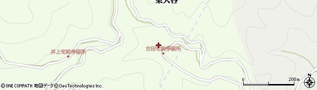 和歌山県有田郡有田川町東大谷周辺の地図