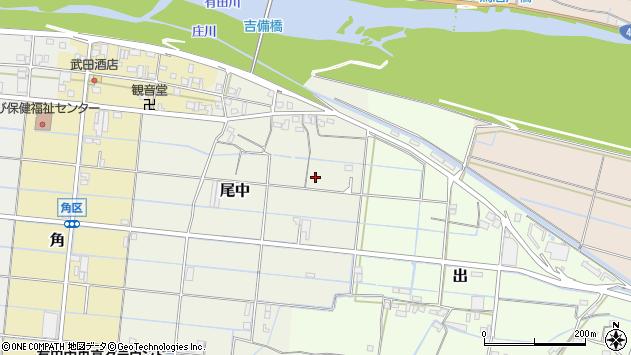 〒643-0852 和歌山県有田郡有田川町尾中の地図