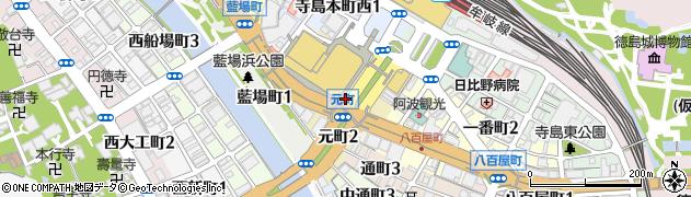 徳島県徳島市元町周辺の地図