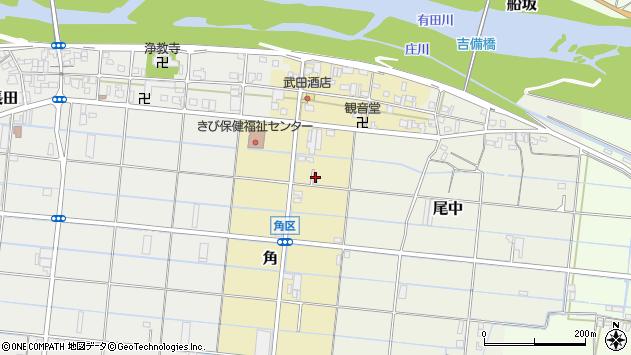 〒643-0853 和歌山県有田郡有田川町角の地図