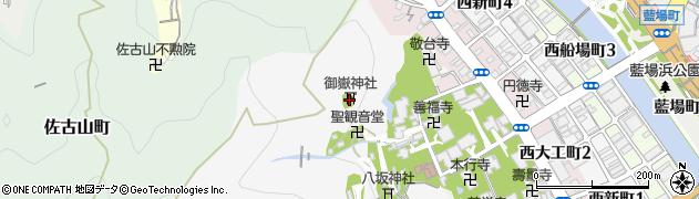 御嶽神社周辺の地図