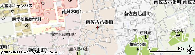 徳島県徳島市南佐古八番町周辺の地図