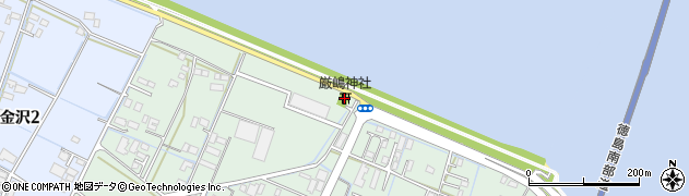 嚴嶋神社周辺の地図