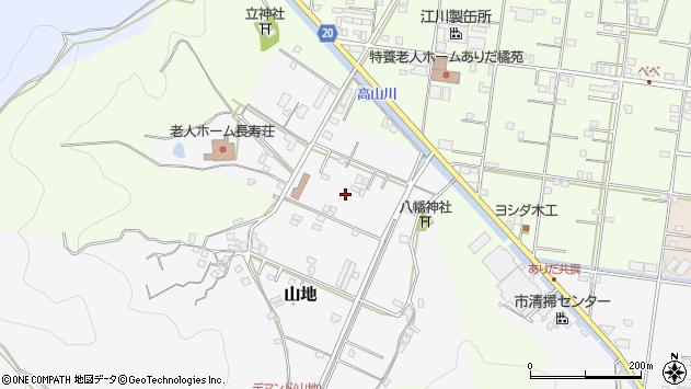 〒649-0315 和歌山県有田市山地の地図