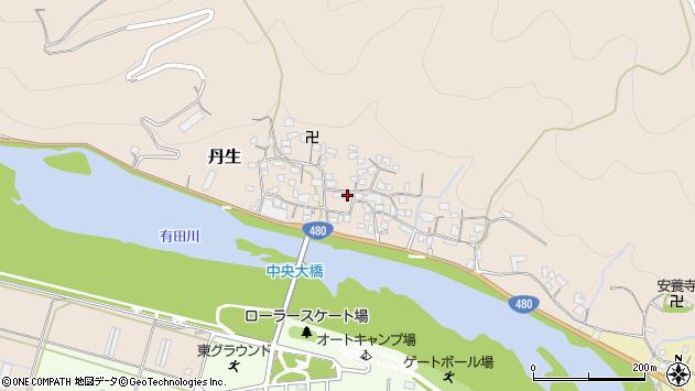 〒643-0175 和歌山県有田郡有田川町丹生の地図