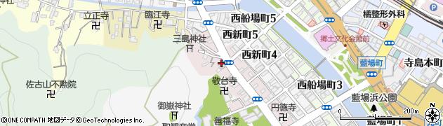 徳島県徳島市西大工町周辺の地図