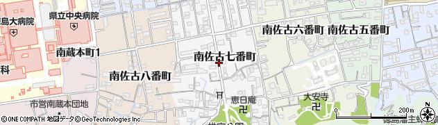 徳島県徳島市南佐古七番町周辺の地図