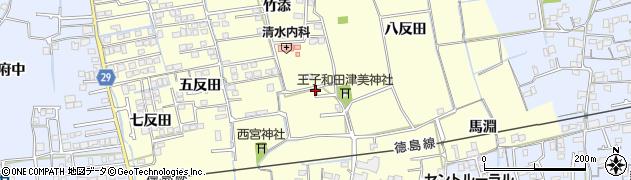 徳島県徳島市国府町和田周辺の地図