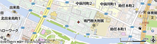 徳島県徳島市南前川町周辺の地図