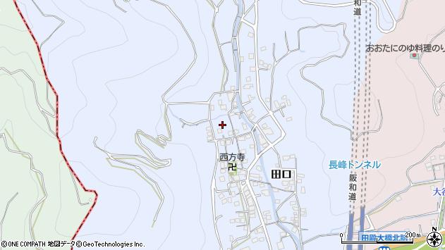 〒643-0846 和歌山県有田郡有田川町田口の地図