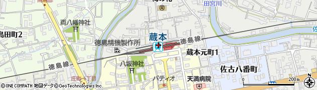 徳島県徳島市周辺の地図