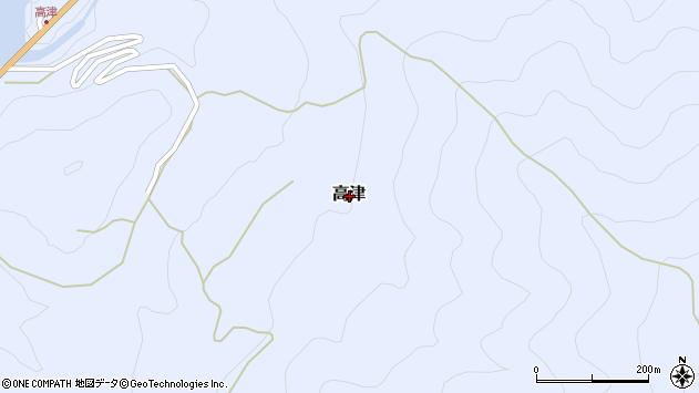 〒637-1104 奈良県吉野郡十津川村高津の地図