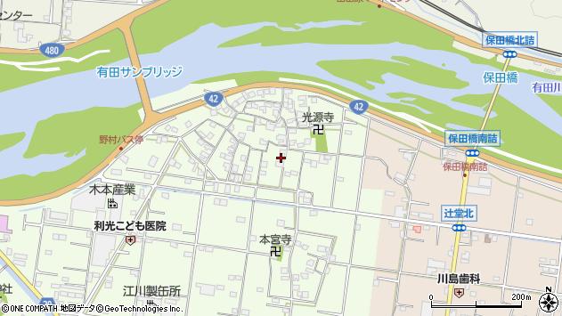〒649-0314 和歌山県有田市野の地図