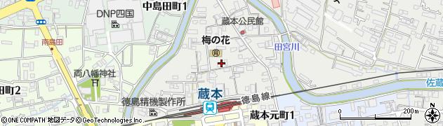 徳島県徳島市蔵本元町周辺の地図
