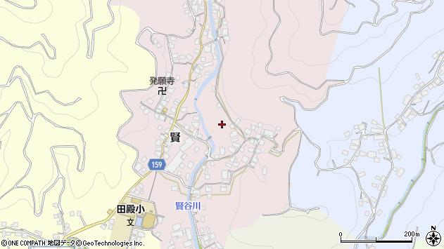 〒643-0843 和歌山県有田郡有田川町賢の地図