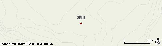 東京都三宅村(三宅島)雄山周辺の地図