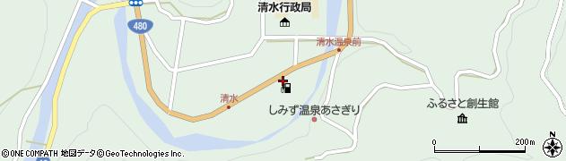 清水石油店周辺の地図