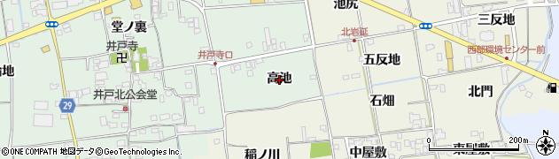 徳島県徳島市国府町井戸(高池)周辺の地図