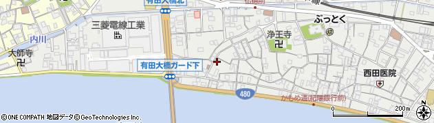 和歌山県有田市箕島福島周辺の地図