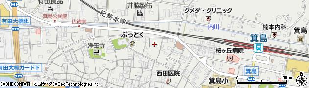 和歌山県有田市箕島西手町周辺の地図