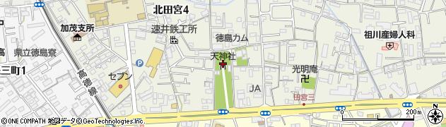 天神社周辺の地図