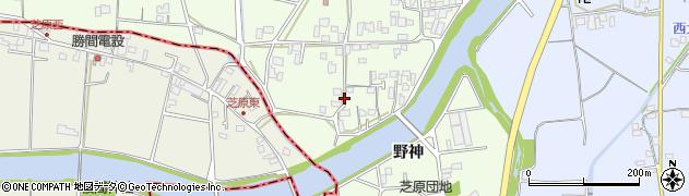 徳島県徳島市国府町芝原(野神)周辺の地図