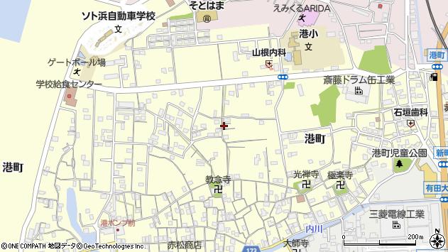 〒649-0305 和歌山県有田市港町の地図