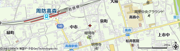 山口県岩国市周東町下久原(泉町)周辺の地図
