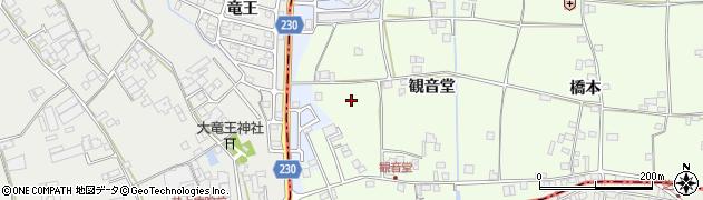 徳島県徳島市国府町芝原(観音堂)周辺の地図