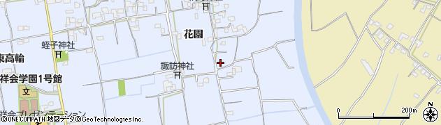 徳島県徳島市国府町(花園)周辺の地図
