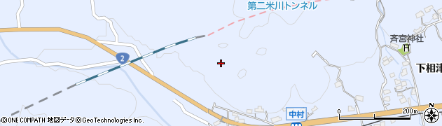 山口県岩国市周東町西長野(西中村)周辺の地図