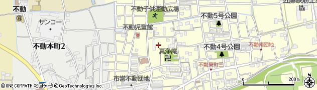 徳島県徳島市不動東町周辺の地図