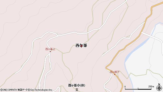 〒643-0128 和歌山県有田郡有田川町西ケ峯の地図