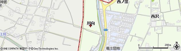 徳島県徳島市国府町芝原(川向)周辺の地図