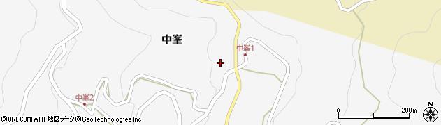 和歌山県有田郡有田川町中峯周辺の地図