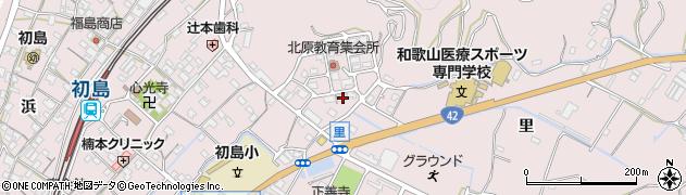 和歌山県有田市初島町里周辺の地図