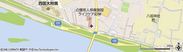 徳島県徳島市応神町古川(日ノ上)周辺の地図