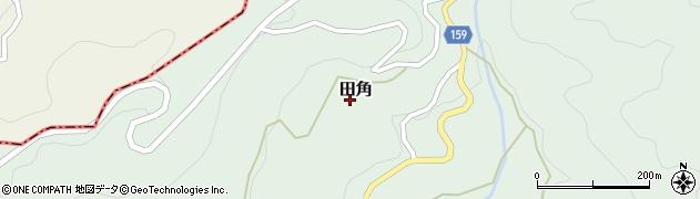 和歌山県有田郡有田川町田角周辺の地図