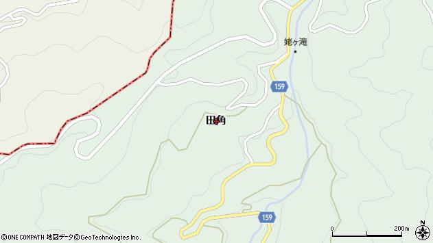 〒643-0848 和歌山県有田郡有田川町田角の地図