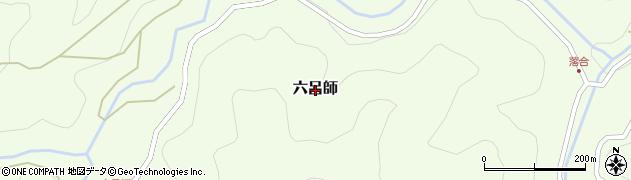 山口県岩国市六呂師周辺の地図