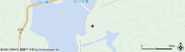 上北山村立白川公民館周辺の地図