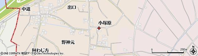 徳島県徳島市国府町佐野塚(小塚原)周辺の地図