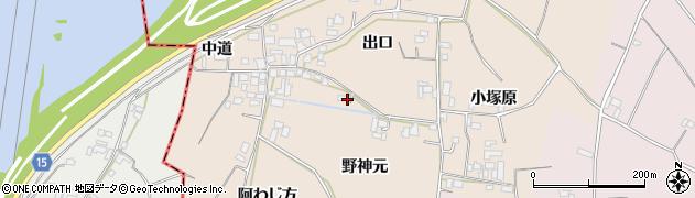 徳島県徳島市国府町佐野塚(野神元)周辺の地図