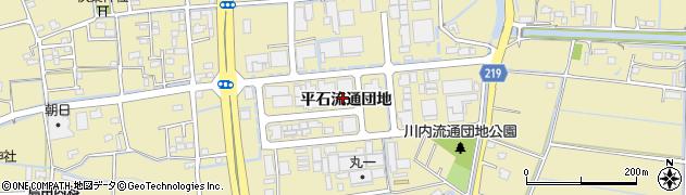 徳島県徳島市川内町(平石流通団地)周辺の地図